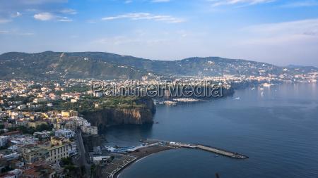 panoramic view of the italian coast