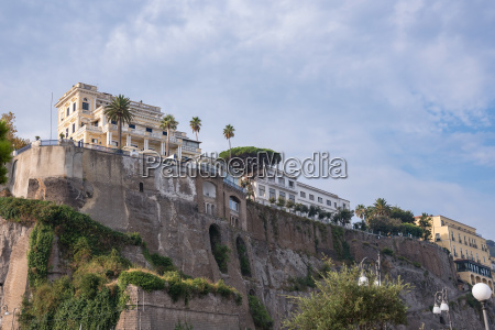 architecture of sorrento town in italy
