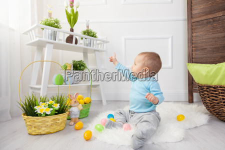 easter egg hunt adorable child playing