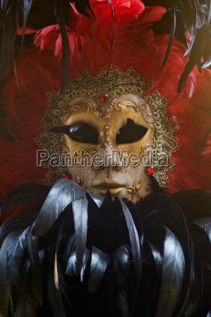 close up of verzierten venezianische maske