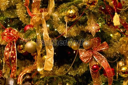 full frame close up christmas tree