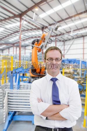 portrait of businessman on floor of