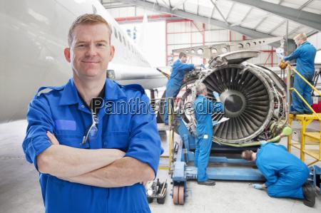 team of aero engineers working on