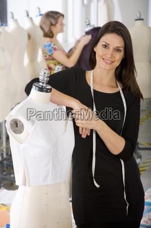 portrait of female clothing designer working