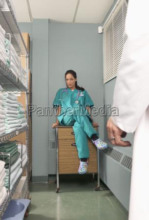 nurse flirting with doctor
