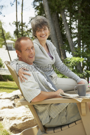 couple sitting in chair