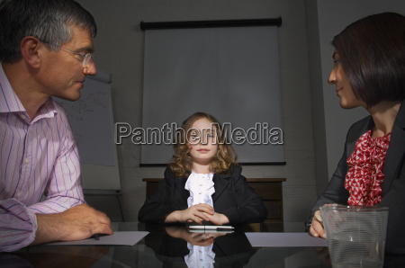 girl in business meeting