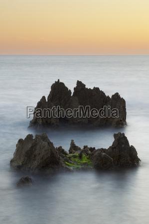 sea stacks of the coastal rock