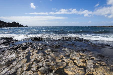 lava beach at acantilados de los