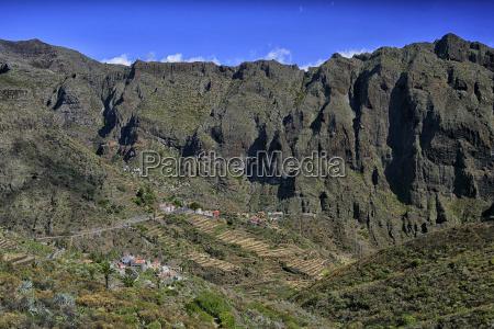 spain tenerife mountains near masca