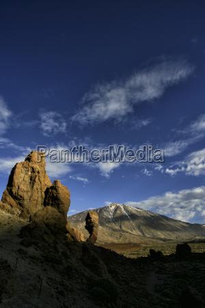 spain tenerife mountainscape at teide national