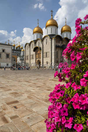 russia moscow kremlin dormition cathedral