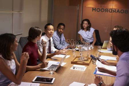 business colleagues in discussion at a