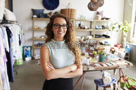 young female business owner in a