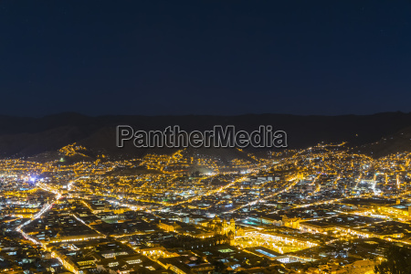 peru andes cusco cityscape as seen