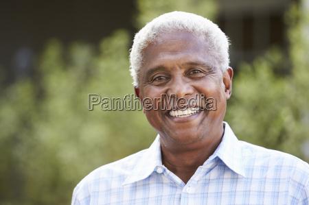 portrait of senior african american man