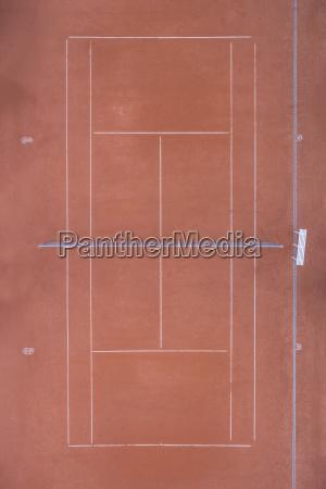 empty tennis court top view