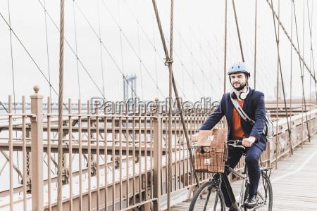 usa new york city man on