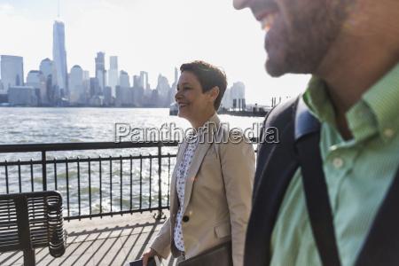 usa man and woman at new