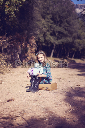 portrait of girl sitting on a