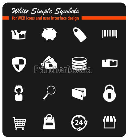 e commerce einfach symbole