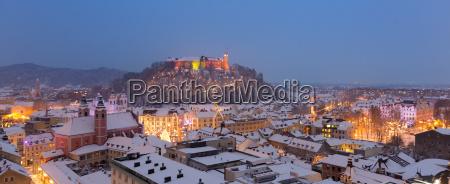 aerial panoramic view of ljubljana decorated