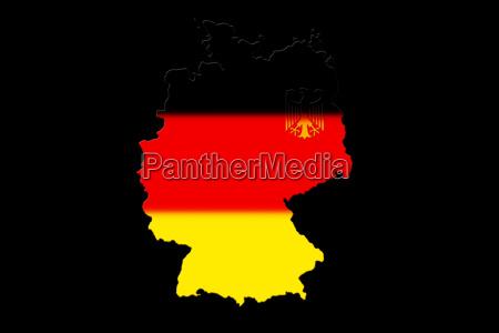 deutsch karte mit den nationalen flagge