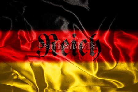 deutsch flagge weht im wind
