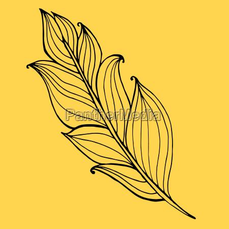 hand gezeichnet doodle zentangle feder von