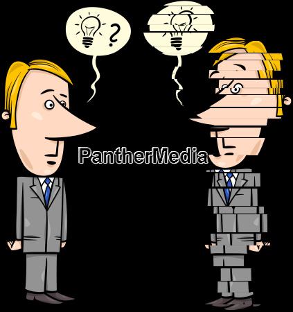 frustrierter geschaeftsmann cartoon