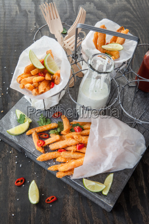 french fries from sweet potatoes