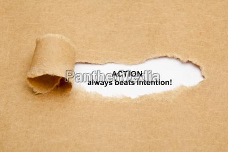 aktion schlaegt immer intention