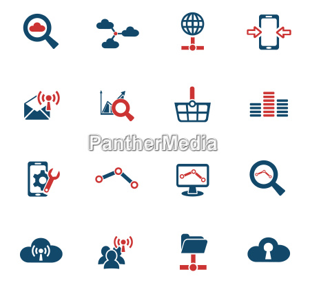 datenanalytik und social network icon set