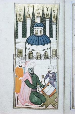illustrationen von zeicheninstrumenten topkapi museum istanbul