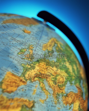 nahaufnahme des europaeischen kontinents auf der