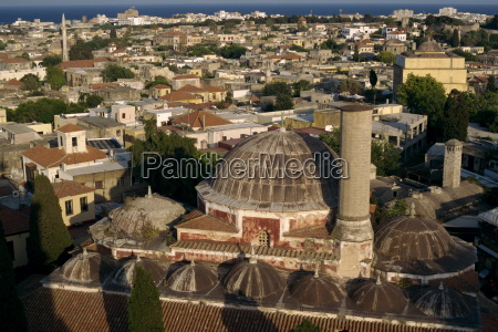 aerial view over suleimans mosque and