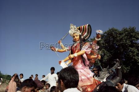 durga puja festival varanasi benares uttar