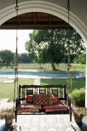 a swing chair hitchkar traditional and