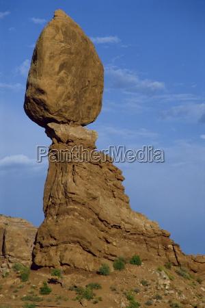 balanced rock a pinnacle of red