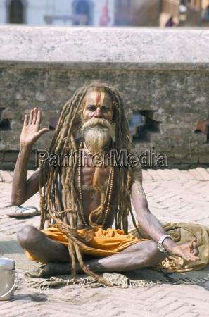 portrait of a sadhu hindu holy
