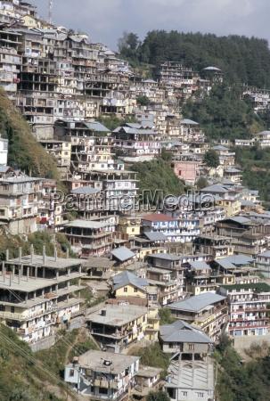 shimla simla stadt aus raj bergstation
