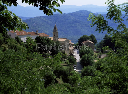 view of motovun from castle istria