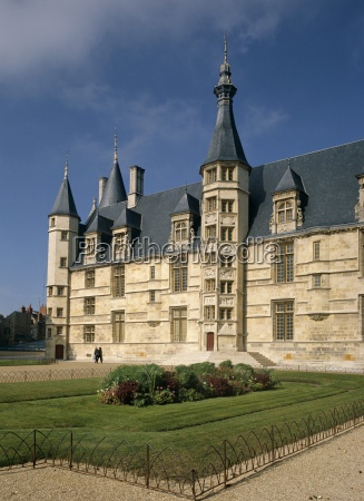 exterior of ducal palace nevers bourgogne