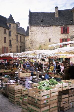 sarlat market dordogne aquitaine france europe