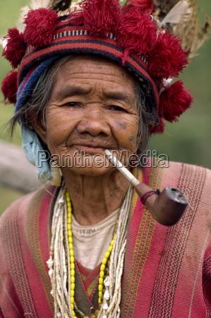 portrait of an elderly woman of