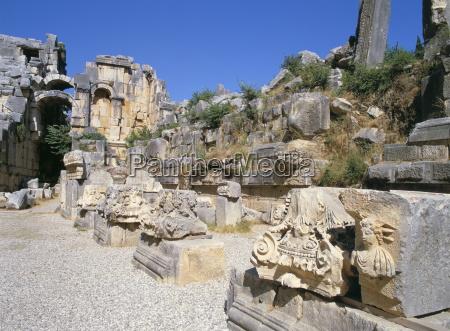ancient lycian ruins myra anatolia turkey