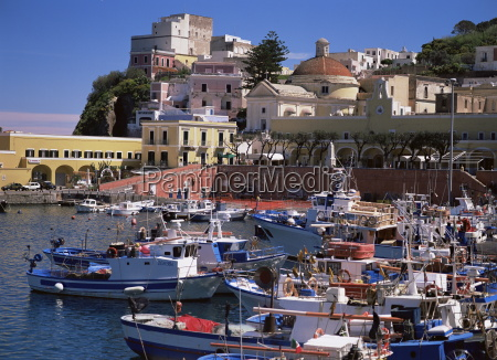 the harbour on the island of