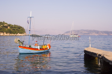 colourful old wooden fishing boat in