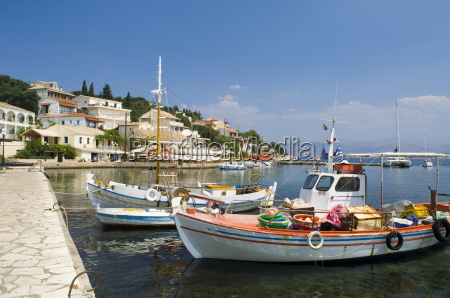 fishing boats in the harbour in