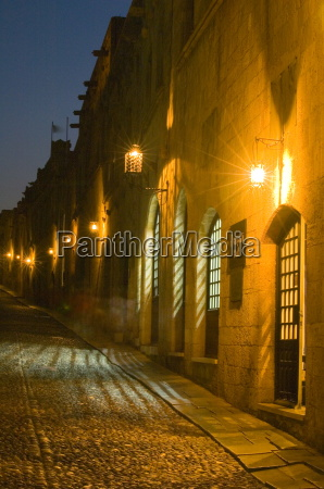 the street of the knights at